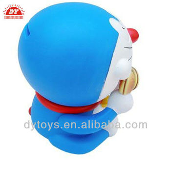 3D custom factory adult action figures doraemon money bank