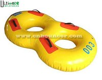 Inflatable swimming ring / two rings in one swimming ring