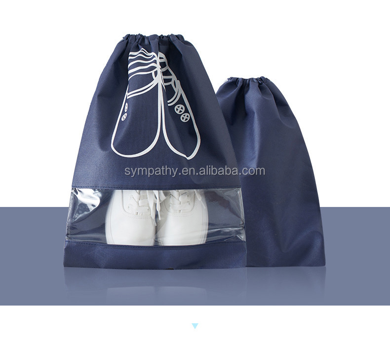 china supplier waterproof non woven drawstring storage shoe bags