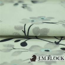 Printed artificial flocking short hair micro-velvet fabric made in Zhejiang