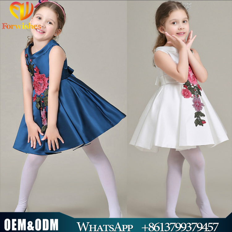 Wholesale New Style Girl Embroidered Fashion Wedding Princess Dress Cute Girl Tu Tu Dress Kids Clothing