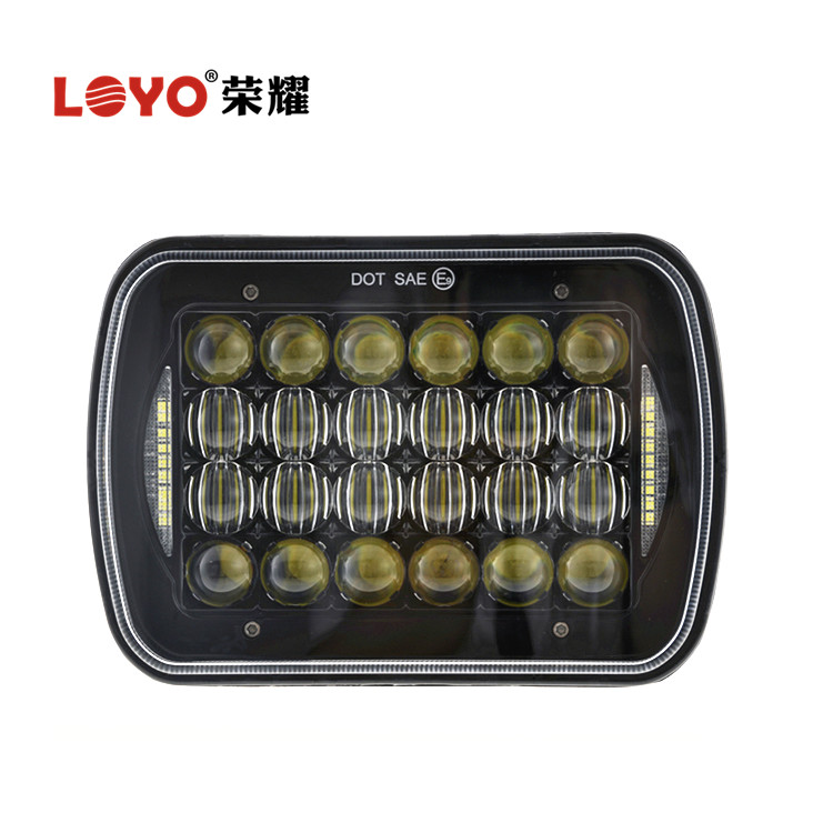 7 Inch 72W 5x7'' LED Headlight with DRL 5x7 High Low Beam LED Headlamp