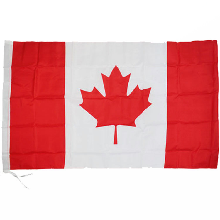 cheap 3 foot by 5 foot Both Sides Printed Canada national flag