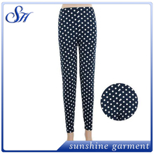 Wholesale printed with dots Custom Printed Leggings with small MOQ 2017