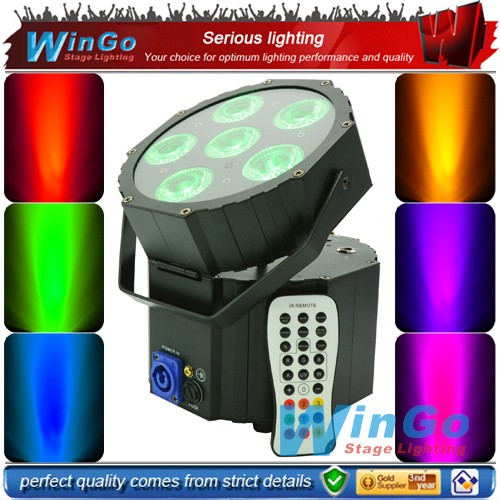 wholesale wireless dmx &remote control battery operated led 6pcs RGBWA 5in1led par can back drop wedding light