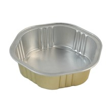 Gold Coated Small Disposable Aluminum Foil Tray