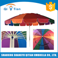 China manufacturer durable rainbow colorful sturdy beach umbrella