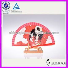 Kinds of Handicrafts and Crafts Red Wooden Folding Hand Fan