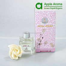 New Design Fresh 100ml Sola Flower Diffuser in Glass Bottle with a Aluminum Collar for Fair
