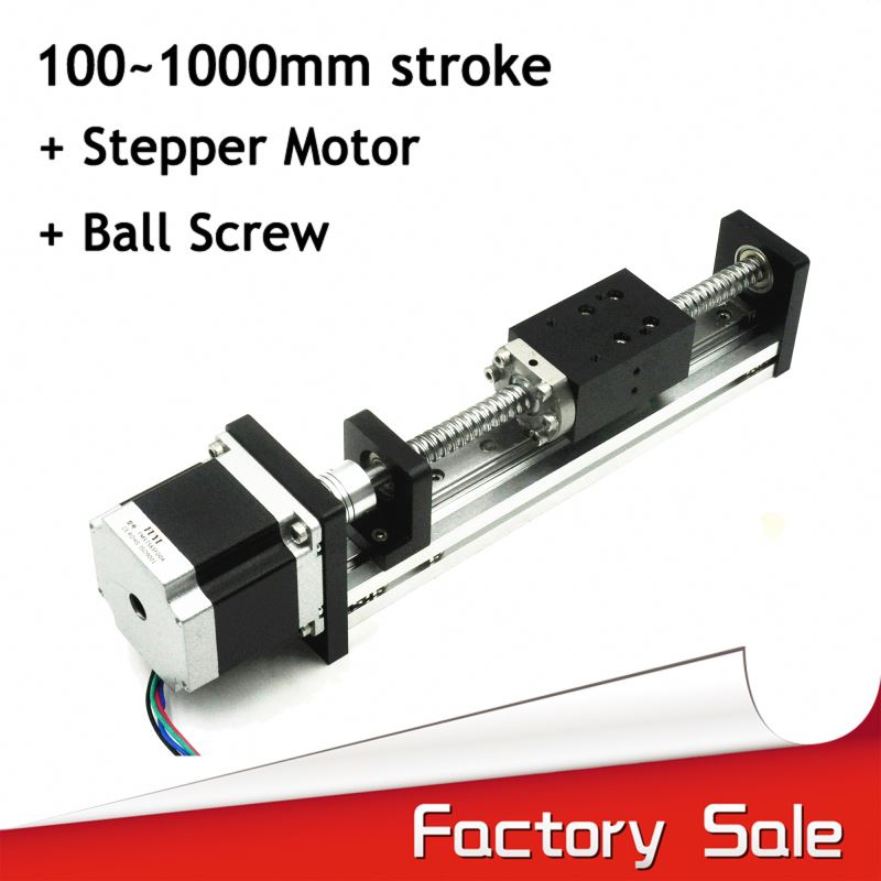 Paypal accepted stepper motor cnc linear motion guide for horizontal and vertical movement