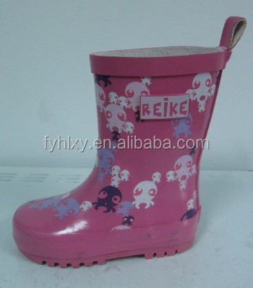 2016 custom made wellington boots pink girls rain shoes