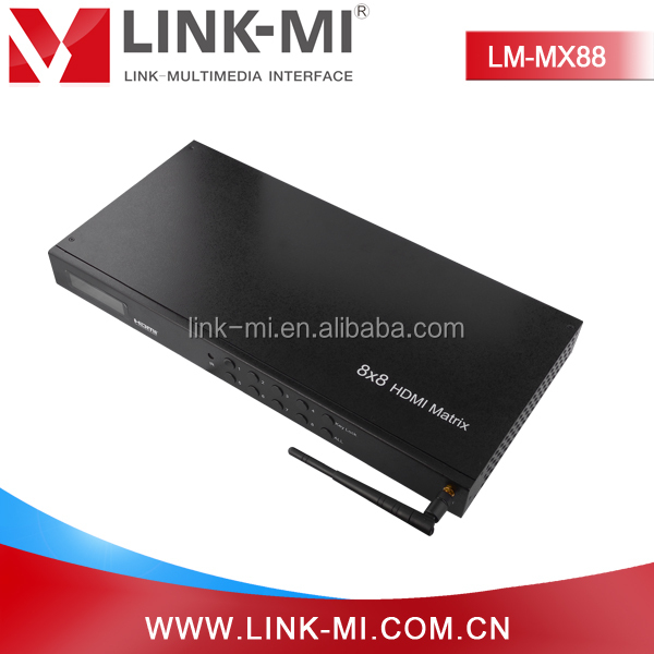 LM-MX88 RS232 IR WIFI Audio Video HDMI Matrix Switch 8x8 With Switching Mode For Engineering Project