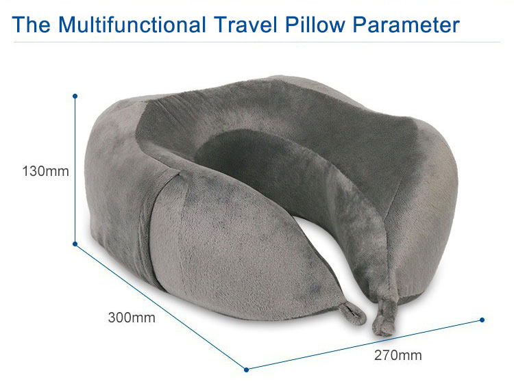 Friendly New Design Comfortable Ergonomic Car Custom Cervical Headrest U Shape Massage Neck Memory Foam Travel Pillow Wholesale