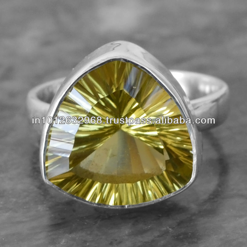 Lemon Topaz Gem Stone 925 Sterling Original Silver Ring