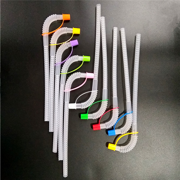 cheap wholesale plastic straws with caps