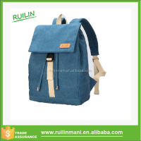 Trendy canvas backpack laptop computer bag for teenage girls