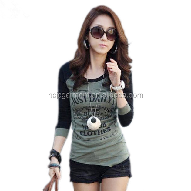 Cheap Casual Autumn Women Clothes Letter Print Long Sleeve T shirt Top Quality Desigual Basic Tops Roupas Femininas