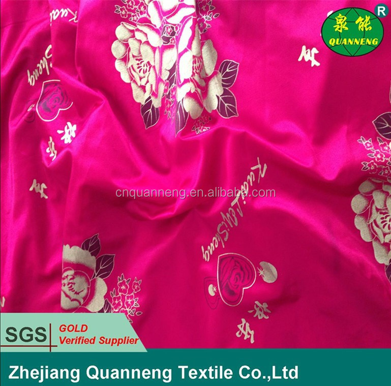 polyester warp knitted tricot printed fabric mattress fabric