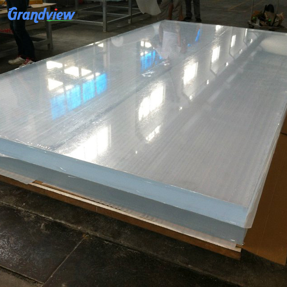 4x8ft hard clear plastic roofing acrylic sheet