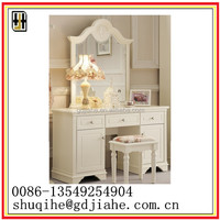 high quality MDDF cosmetic desk White Dresser With Mirror