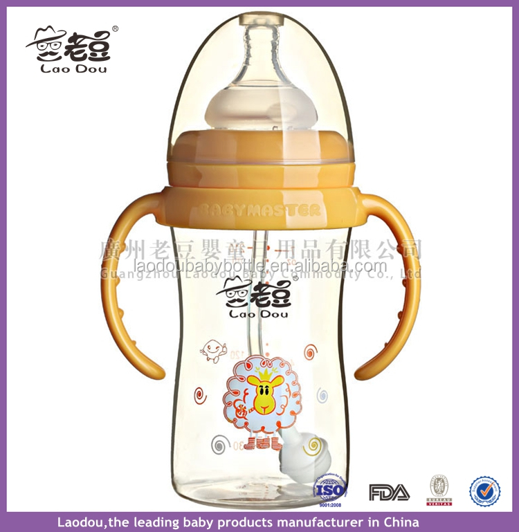 300ml/9oz 360 Degree Drinking PPSU Baby Bottles Natural Flow Wide-Neck Pacifier High Quality Free-BPA Milk Feeding Bottle 4M+