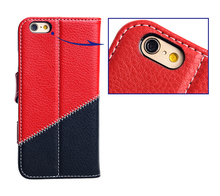 New product Leather slot wallet stand flip pouch Cover cell phone PU Skin Case for iphone 6