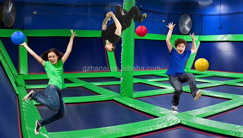 A-15249 Durable Safe Adult And Children Indoor Trampoline Park
