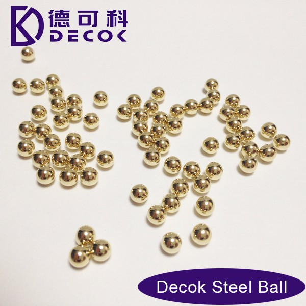 Gold Plating Finish Metal Spheres Bolas De Oro Metal Balls