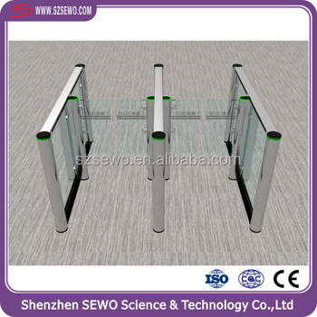 Full Automated NO VOICE RFID Access Control 0.3sec fast speed turnstile