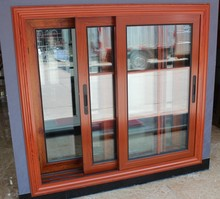 General residential double layer glass black aluminum casement windows