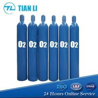 ISO9809 5 L - 50 L High Pressure Seamless Steel Gas Cylinder Oxygen Cylinder Price