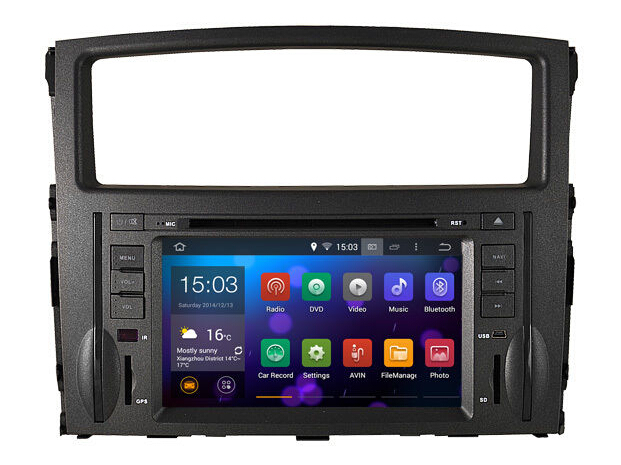 Android 5.1.1 In dash car GPS For MITSUBISHI PAJERO (2006-2011) mitsubishi pajero gps multimedia navigation system