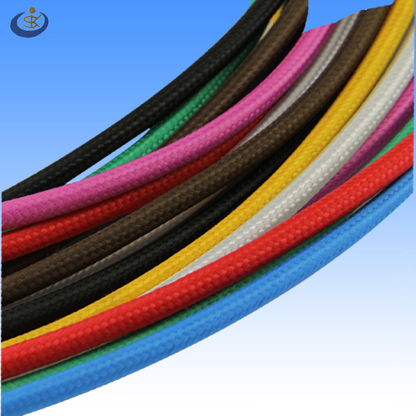 Round Braided Textile Electrical Cable/Wire/Pulley Cord UL SJT 105C 18awg 2 wires/3 wires
