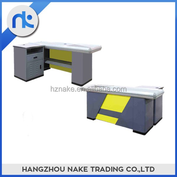 Modern designed supermarket checkout counter for sale