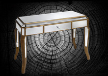 ZhaoHui ZHDC108 venetian mirrored glass dressing table With Large Drawer