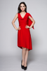 Knee Length Red Asymmetric Cocktail Party Holiday Summer Dresses