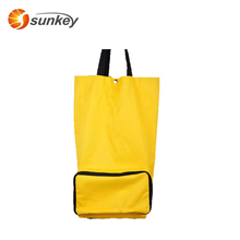 Promotion Eco Friendly Portable Folding Shopping Trolley Bag With Wheels
