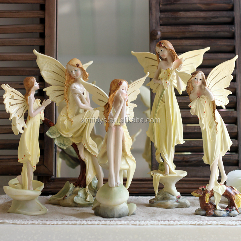 Garden Decorative Handmade Angel Polyresin Figurine/home decor resin fairy figurine