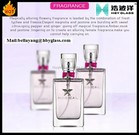 men's fragrance Magical perfume rectangle square 1oz 100ml clear glass e liquid bottle with childproof dropepr top lid