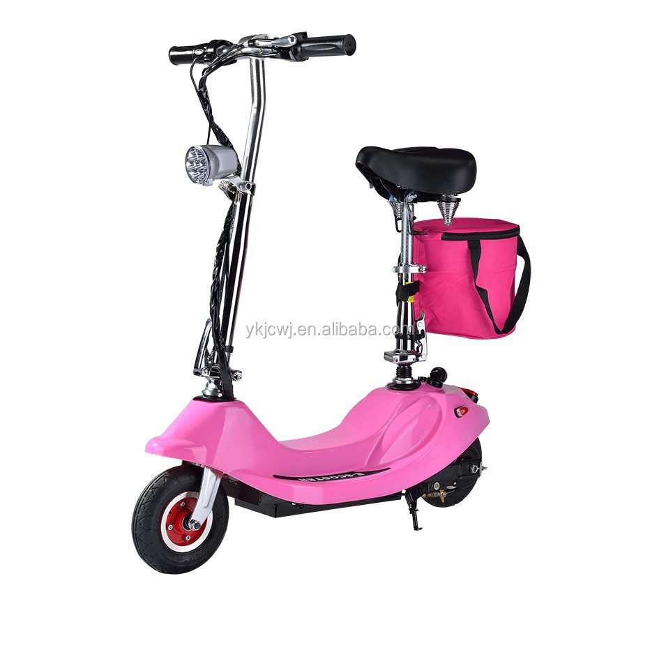 24v 250w Pink Electric Scooter 2 Wheel Electric Scooter E