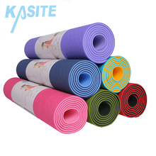 Professional Manufacturer Waterproof Pilates Hot Design Non Slip Custom Print Private Label ECO Friendly TPE Yoga Mat