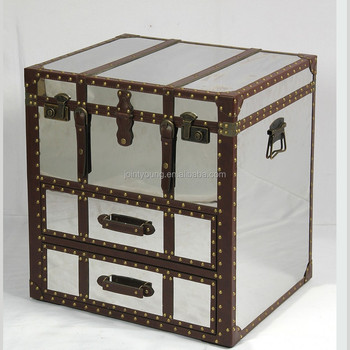 stainless steel storage trunk