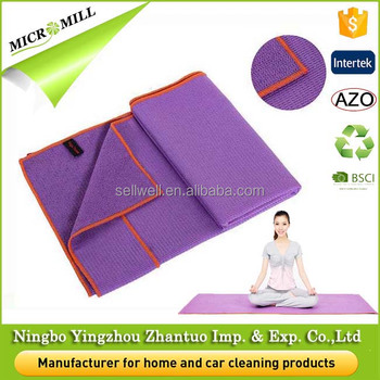 Yoga mat manufacturer microfiber custom yoga mat towel, eco friendly printed yoga mat