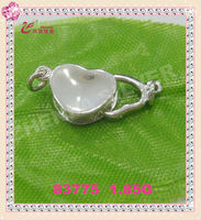 jewelry making supplies 925 sterling silver heart-shaped clasps