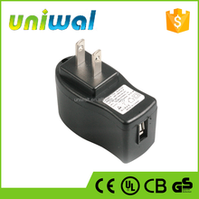 5W USB Chargers, USB Wall Chargers 5V 1A Power Adapters with Japan Plug Input AC PIN for Mobile Phones