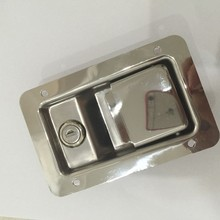 Stainless steel toolbox recessed latch lock