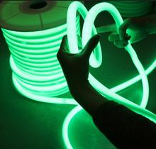 17mm Round neon flex 12v 360 <strong>RGB</strong> Color changing 5050 smd neon Rope Silicone coated