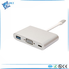 USB 3.1 Type C to VGA Monitor USB 3.0 Type-c Charger Adapter cable