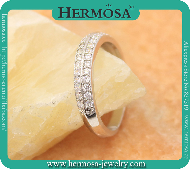 Hot Hermosa Unique Channel Setting Jewelry <strong>Diamond</strong> 925 Sterling Silver Shiny ring For Lovers