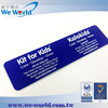 Durable rear self adhesive backing offset printing pvc label